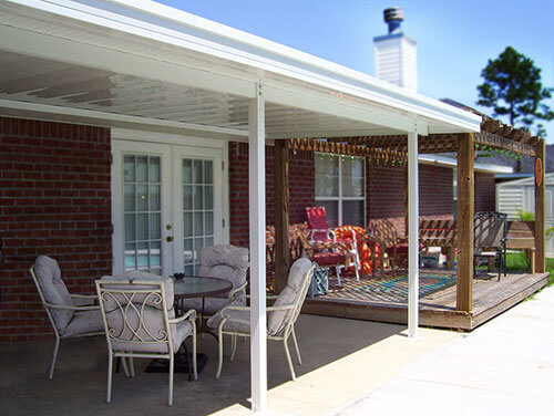 Patio Cover with wood pergola