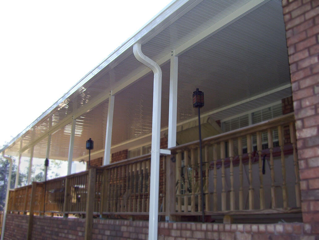 Patio cover with handrails
