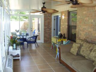 Pensacola sun room with full view door.