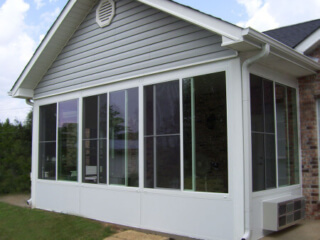 Florida room with insulated glass and conventional roof.