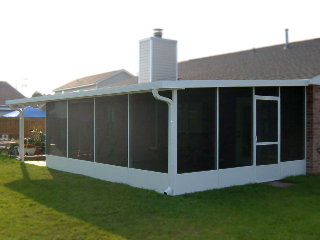 Screen enclosure with attached patio cover