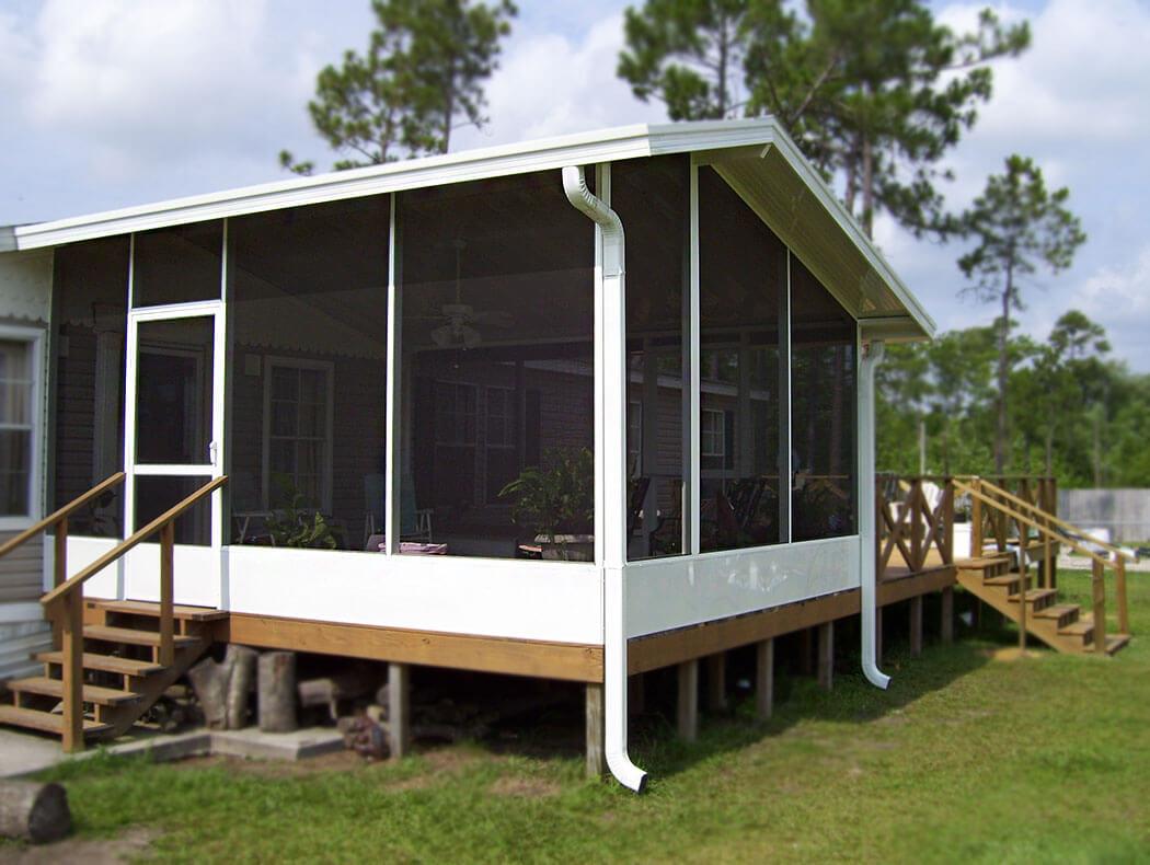 Screen enclosure built on deck